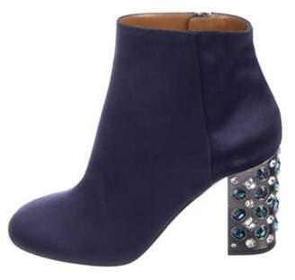 Aquazzura Embellished Satin Boots Embellished Satin Boots