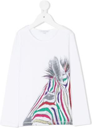 Little Marc Jacobs lurex zebra top