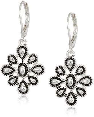 Chaps Women's Metal Flower Drop Earrings