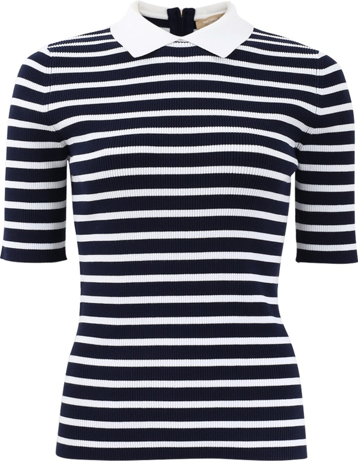 MICHAEL Michael Kors MICHAEL KORS Striped Polo Top