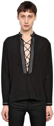 Saint Laurent Cotton Silk Tunic Shirt