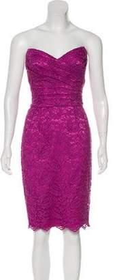 Dolce & Gabbana Lace Mini Dress Purple Lace Mini Dress
