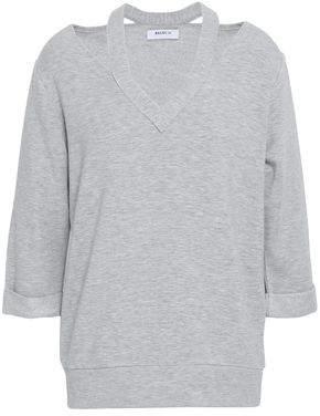 Bailey 44 Cutout Melange Modal-blend Fleece Top