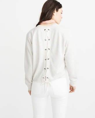 Abercrombie & Fitch Lace-Up Back Crew Fleece
