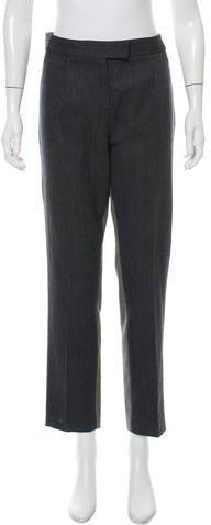 Christian Dior Straight-Leg Herringbone Pants