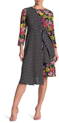 Spense Mixed Print Long Sleeve Dress
