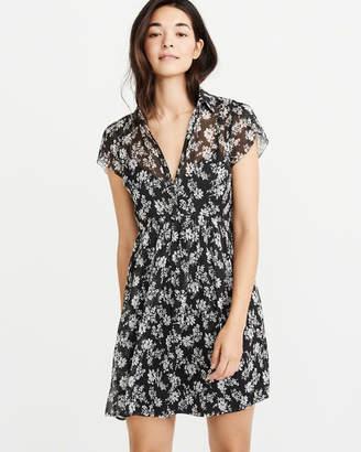 Abercrombie & Fitch Chiffon Shirt Dress