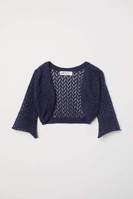 H&M Loose-knit Bolero - Blue