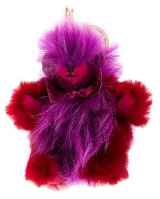 Burberry Shearling Thomas Bear Bag Charm violet Shearling Thomas Bear Bag Charm