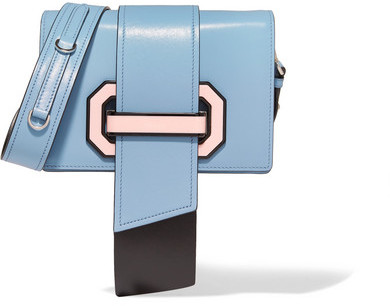 prada Prada - Ribbon Leather Shoulder Bag - Blue