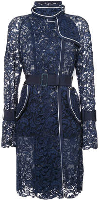 Sacai lace trench coat