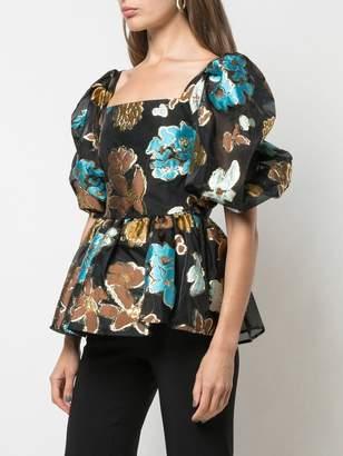 Stine Goya Autumn Garden puff blouse