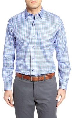 Men's David Donahue Regular Fit Plaid Sport Shirt $135 thestylecure.com
