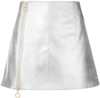 Paco Rabanne metallic zipped skirt