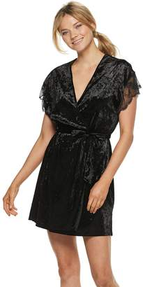 Apt. 9 Women's Crushed Velvet Wrap Robe