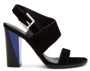 Calvin Klein Carina Heeled Suede Dress Sandals