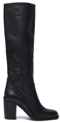 McQ Textured-leather Boots