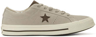 Converse Beige Suede One Star Sneakers