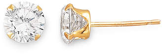 JCPenney FINE JEWELRY 5mm 14K Gold Cubic Zirconia Round Stud Earring