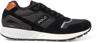Ralph Lauren Train 100 Suede-Mesh Sneaker