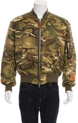 Heron Preston Camouflage Bomber Jacket