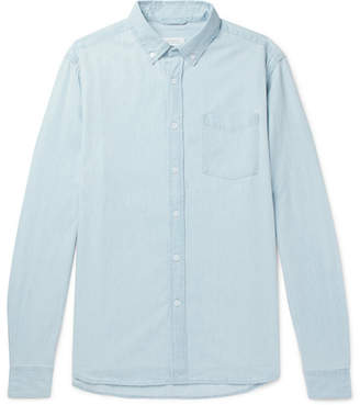 Saturdays NYC Crosby Button-Down Collar Washed-Denim Shirt