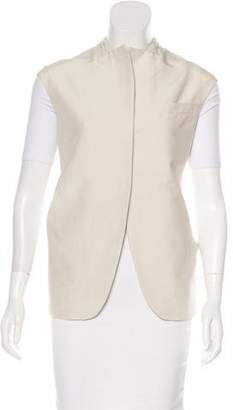 Calvin Klein Collection Collarless Woven Vest