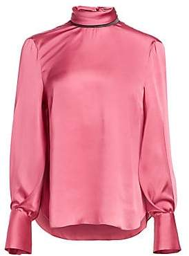 Brunello Cucinelli Women's Silk Long-Sleeve Blouse
