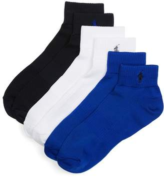 Polo Ralph Lauren Athletic Socks, Pack of 3 $18 thestylecure.com