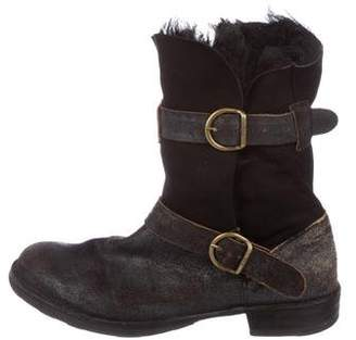Fiorentini+Baker Shearling-Trimmed Ankle Boots