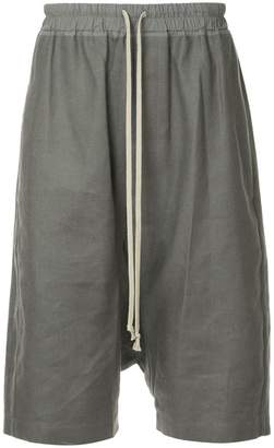 Rick Owens drop-crotch bermuda shorts