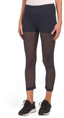 Striped Mesh Capris