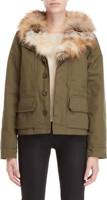 Equipment Love Token Real Fur-Lined Jacket