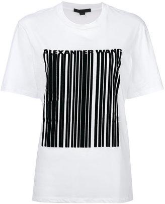 Alexander Wang barcode logo printed T-shirt $245 thestylecure.com