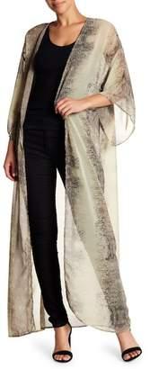 Love + Harmony 3\u002F4 Sleeve Woven Kimono