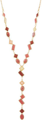 Lydell NYC Mixed Stone Y-Drop Pendant Necklace