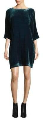 Eileen Fisher Velvet Bateau Neck Shift Dress