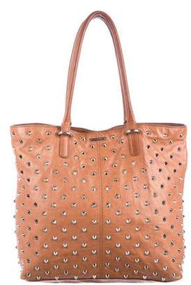 Rebecca Minkoff Studded Distressed Leather Tote Bag
