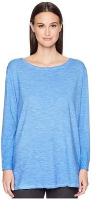 Eileen Fisher Bateau Neck Tunic Women's Long Sleeve Pullover