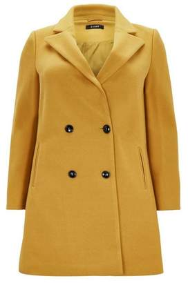 Evans Mustard Double Breasted Coat