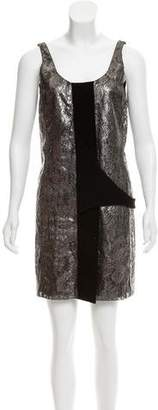 Balenciaga Metallic Lace Mini Dress