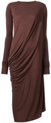 Rick Owens Lilies draped jersey dress