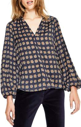 Boden Harriet Mixed Print Blouse
