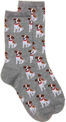 Hot Sox Jack Russell Terrier Crew Socks - Women's