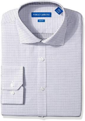 Vince Camuto Men's Slim Fit Neat Square Dobby Dress Shirt