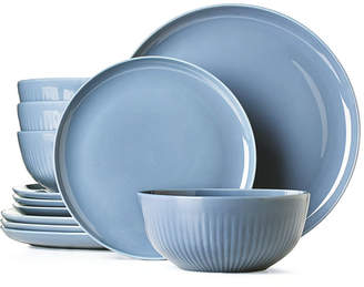 Hotel Collection Modern Porcelain 12-Pc. Dinnerware set, Service for 4