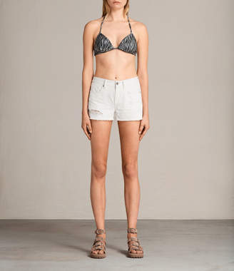 AllSaints Agnes Zebra Bikini Top