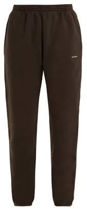 Balenciaga Copyright Logo Track Pants - Womens - Black