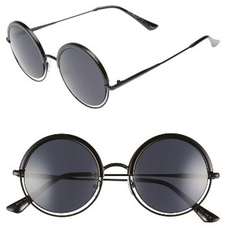 Women's A.j. Morgan Pancakes 52Mm Gradient Lens Round Sunglasses - Black $24 thestylecure.com