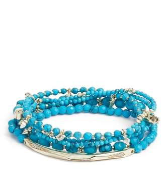 Kendra Scott Supak Beaded Faceted Stone Bracelets - Set of 5
